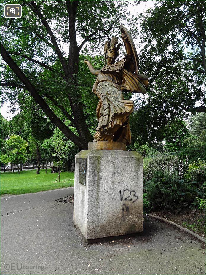LHS La Danse Triomphale A Pallas Athene Statue