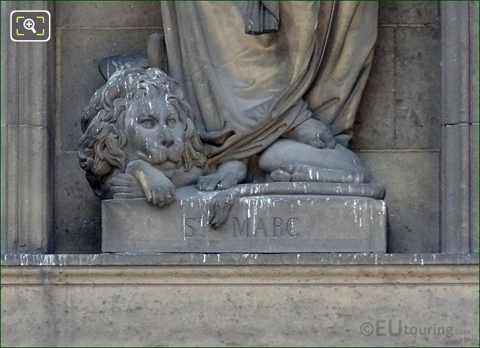 Lion At The Feet Of Saint Mark Statue
