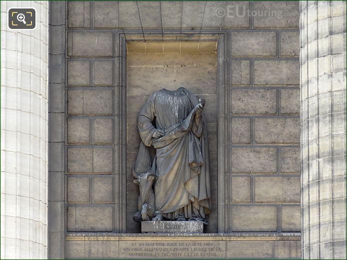 Saint Luke Statue On Eglise De La Madeleine