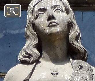 Saint Agnes Statue By Sculptor Jean Bernard Duseigneur