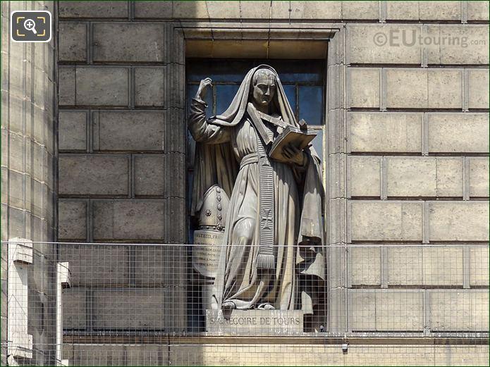 St Gregoire De Tours Statue On Eglise De La Madeleine