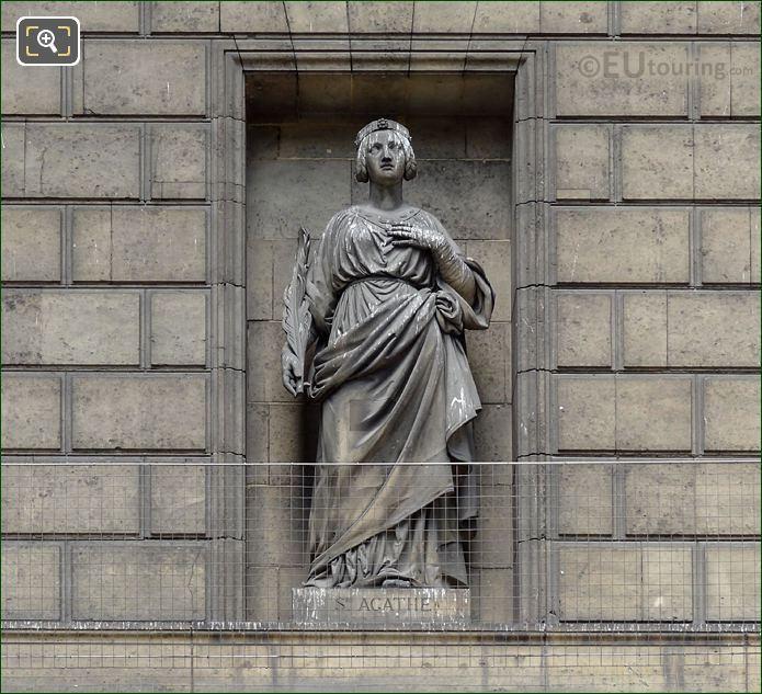 Sainte Agathe Statue On Eglise De La Madeleine