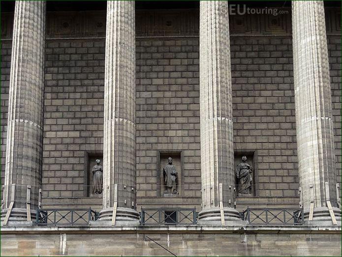 East Facade Of Eglise De La Madeleine With Saint Martin Of Tours Statue