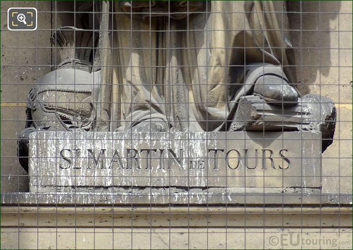 Saint Martin Of Tours Inscription On Statue Pedestal