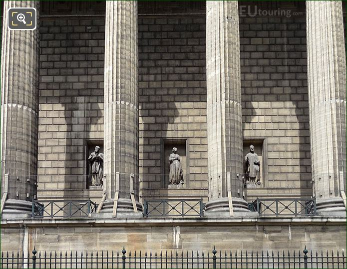 East Facade Of Eglise De La Madeleine With Sainte Helene Statue