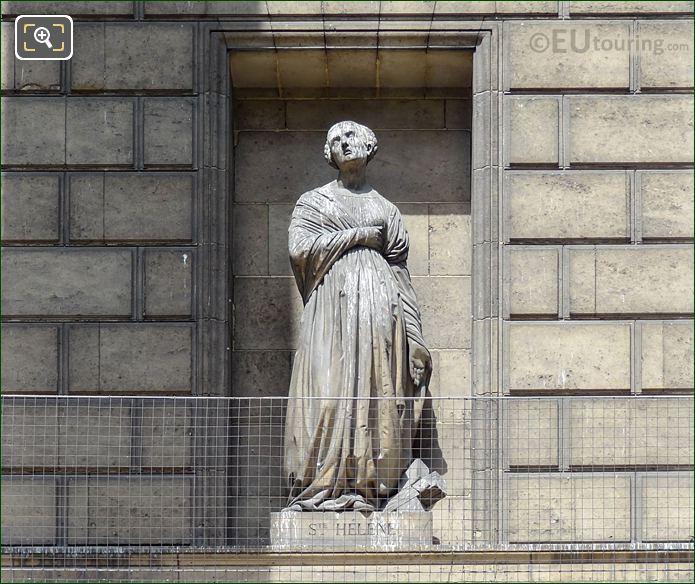 Sainte Helene Statue On Eglise De La Madeleine