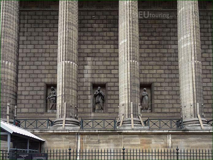 East Facade Of Eglise De La Madeleine With Saint Francois De Sales Statue