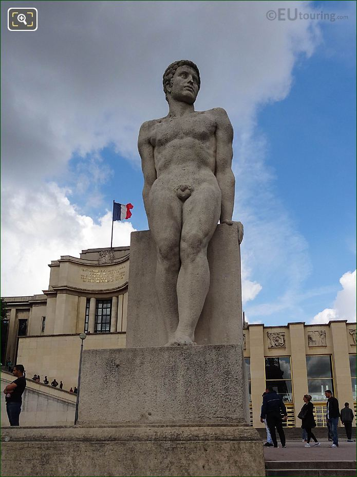 The Man Statue Jardins Trocadero