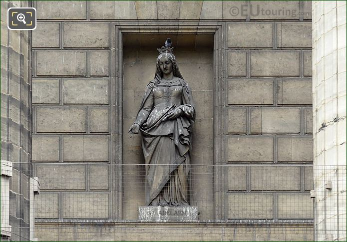 Saint Adelaide Statue On Eglise De La Madeleine