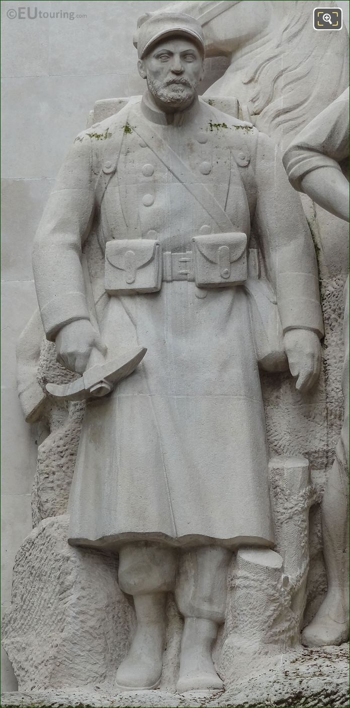 RHS French Soldier On World War I Monument At Place Trocadero