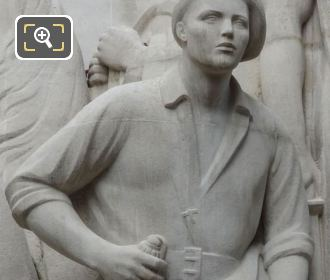 French Resistance Fighter On World War I Monument At Place Trocadero