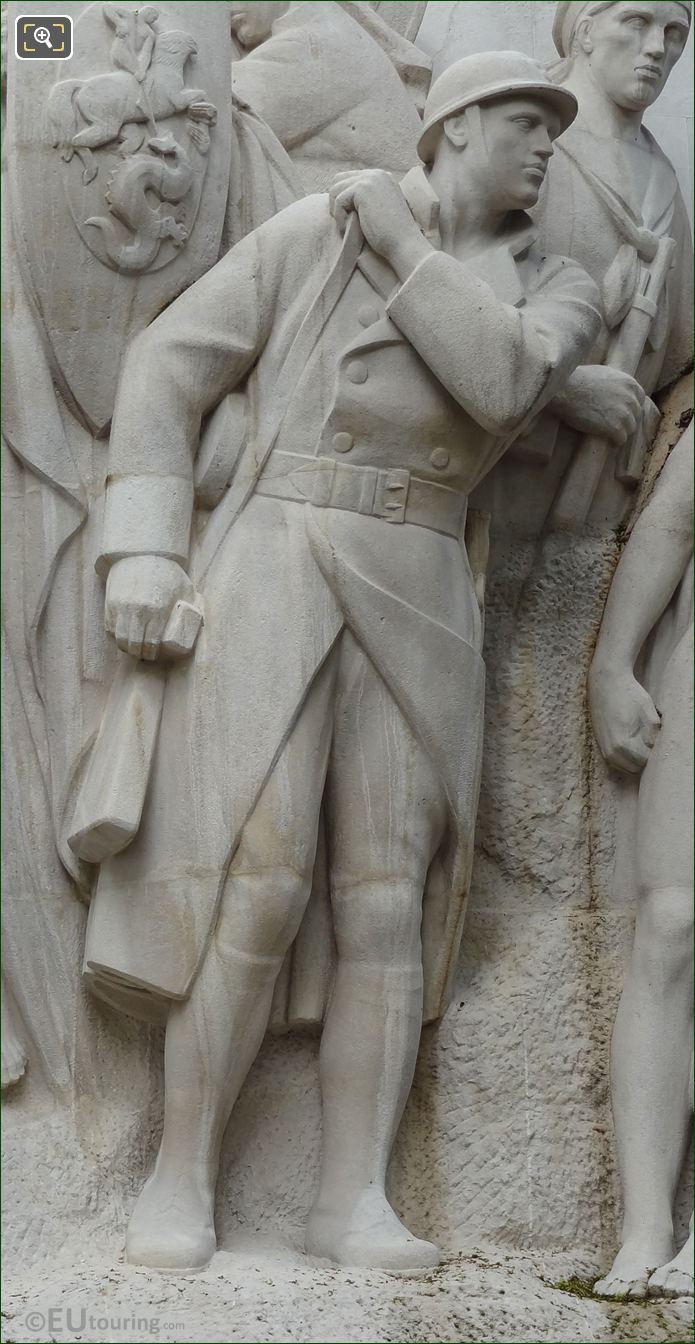 French Infantry Statue On Monument A La Gloire Des Armees Francaises