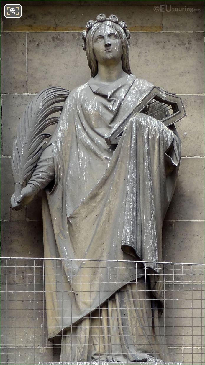 Sainte Cecile Statue On Eglise De La Madeleine