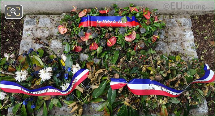 Wreaths Laid At Base Of World War I Monument At Place Trocadero