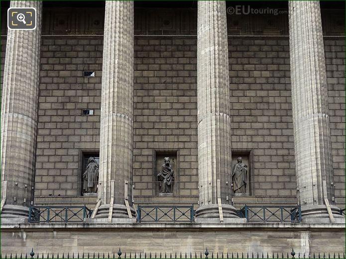 East Facade Of Eglise De La Madeleine With Saint Hilaire De Poitiers Statue