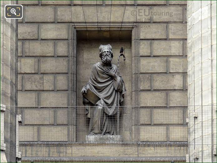 Saint Hilaire De Poitiers Statue On Eglise De La Madeleine