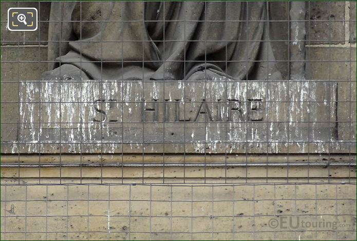 Saint Hilaire De Poitiers Inscription On Statue Pedestal