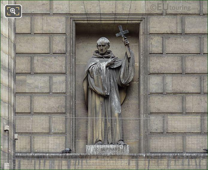 Saint Bernard Statue On Eglise De La Madeleine