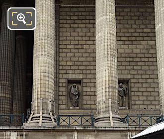 East Facade Of Eglise De La Madeleine With Saint Gabriel Statue