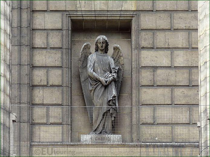Saint Gabriel Statue On Eglise De La Madeleine