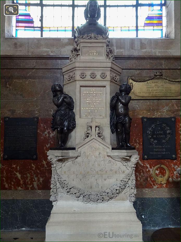 Monument De l'Abbe De l'Epee In Chapelle Sainte-Suzanne At Eglise Saint-Roch