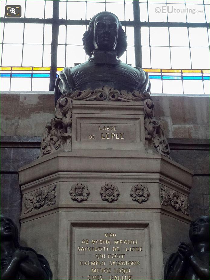 Bronze Statue Of L'Abbe De L'Epee On Monument