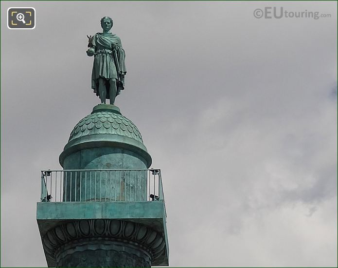 Colonne De Vendome Top With Napoleon I Statue