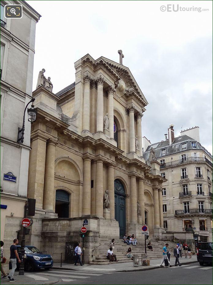 Eglise Saint-Roch South Facade On Rue Saint-Honore