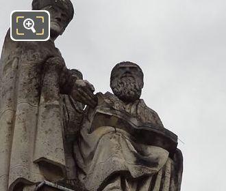 Les Peres De l'Eglise Statue By Sculptor Marcelin Firmin Michelet