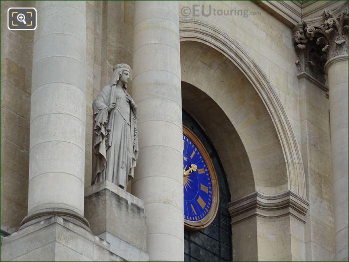 Sainte Clotilde Statue On South Facade Of Eglise Saint-Roch