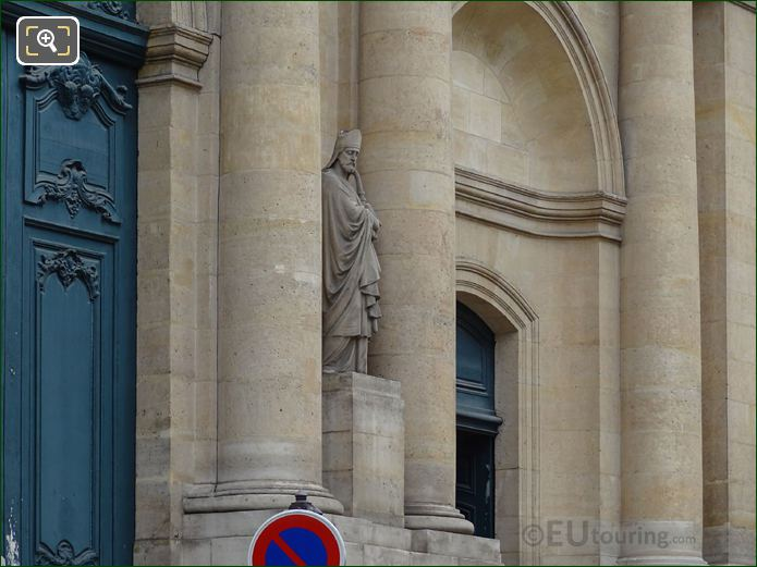 Saint Honore Statue And Eglise Saint-Roch Front Doors