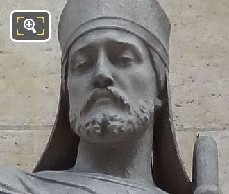 Saint Honore Statue By Sculptor Eugene Antoine Aizelin