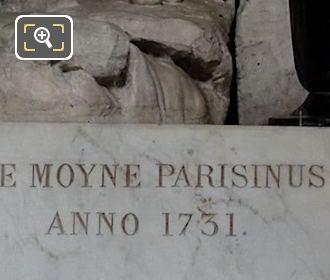 Inscription On Baptism Of Jesus Statue Pedestal