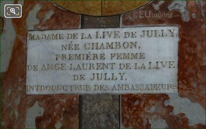 Stone Plaque For Mme La Live De Jully Medallion