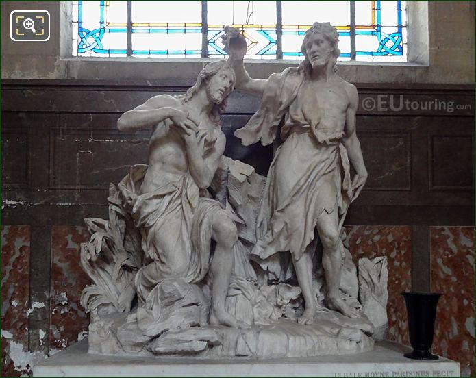 Baptism Of Jesus Statue By Sculptors Jean-Baptiste I Lemoyne And Jean-Baptiste II Lemoyne