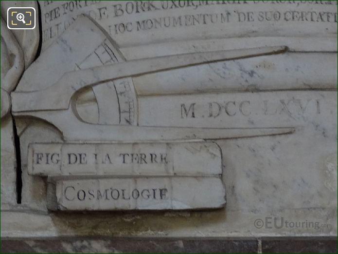 Scientific Instruments On Pierre-Louis Moreau De Maupertuis Monument