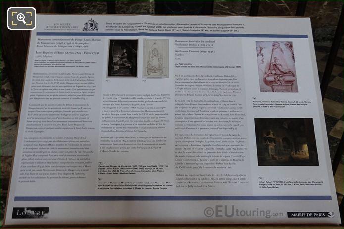 Tourist Information Board For Cardinal Guillaume Dubois Monument At Eglise Saint-Roch