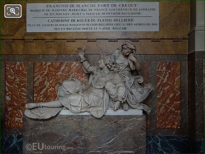 Charles, Duc de Crequy Monument In Chapelle Saint-Etienne At Eglise Saint-Roch