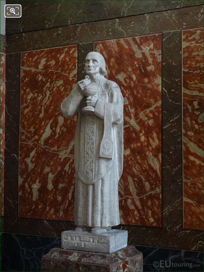 Saint Jean Vianney Cure d'Ars Statue At Eglise Saint-Roch