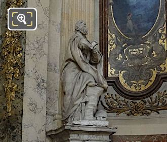 Saint Francis De Sales Statue On Pedestal In Eglise Saint-Roch