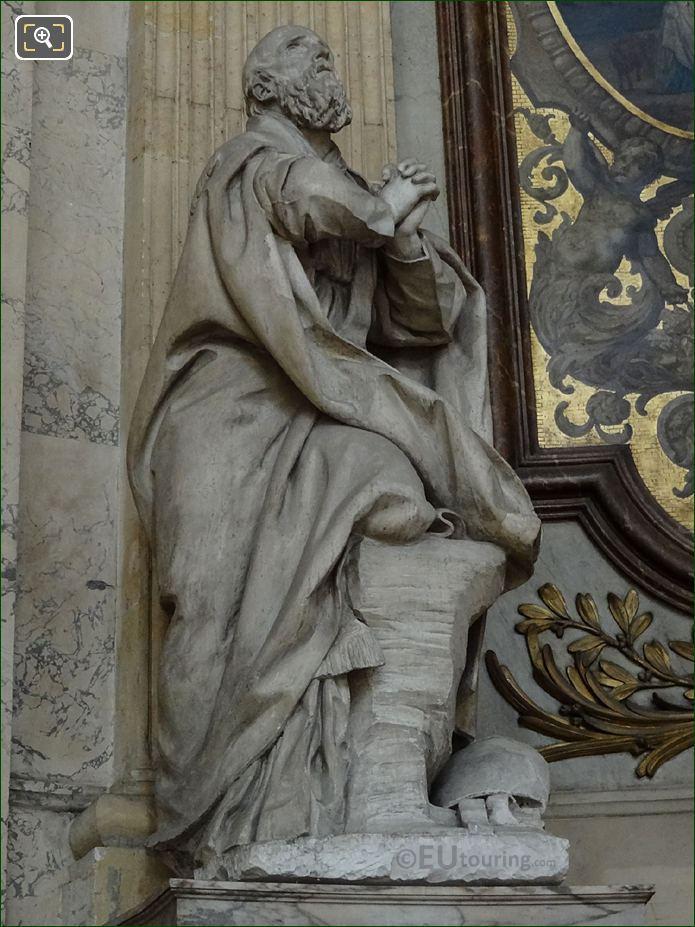 Saint Francis De Sales Statue By Sculptor Augustin Pajou