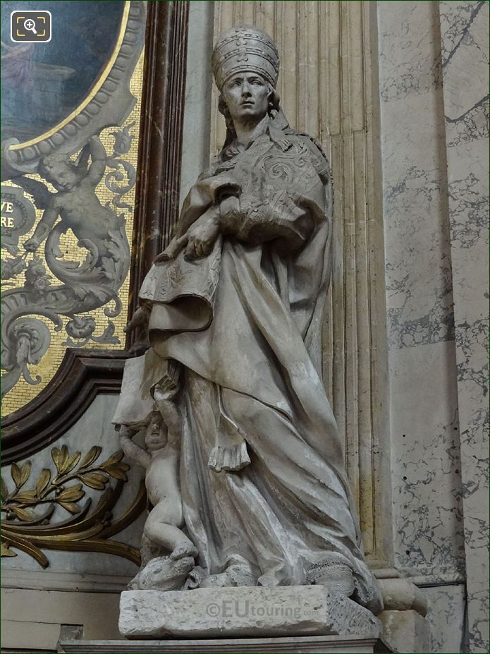 Saint Gregoire Le Grand Statue By French Sculptor Simon Challe