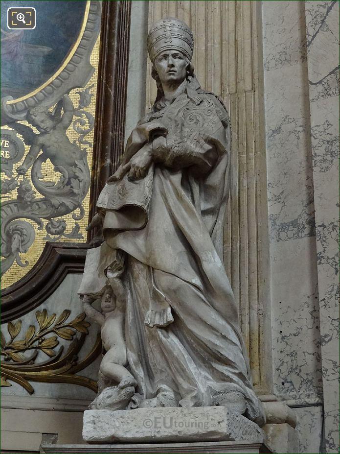 Saint Gregoire Le Grand Statue By French Sculptor Simon Challe