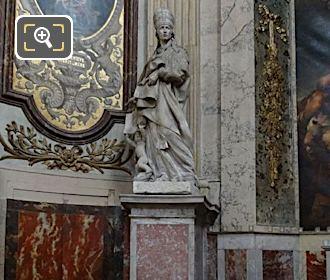 Saint Gregoire Le Grand Statue In Eglise Saint-Roch