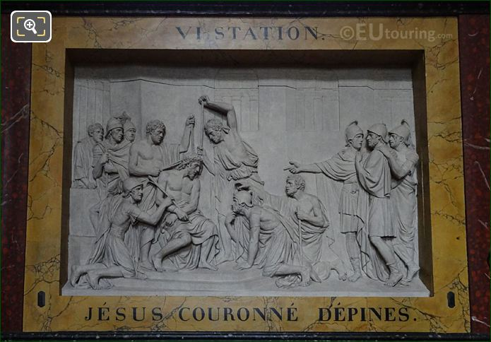 Jesus Couronne d'Epines Sculpture In The Eglise Saint-Roch
