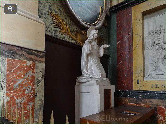 Eglise Saint-Roch Marble Statue Of Saint Kneeling