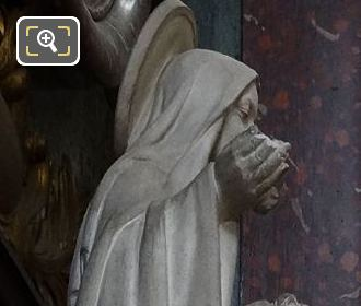 Marble Saint Kneeling Statue By French Sculptor Auguste Maillard