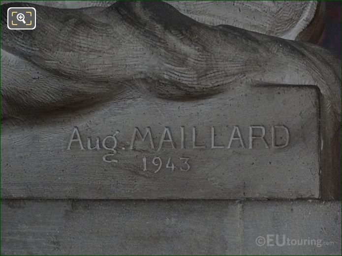Aug Maillard 1943 Inscription On Statue Base