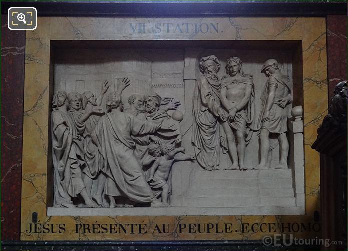 Jesus Presente Au Peuple Sculpture In Chapelle Sainte Anne At Eglise Saint-Roch