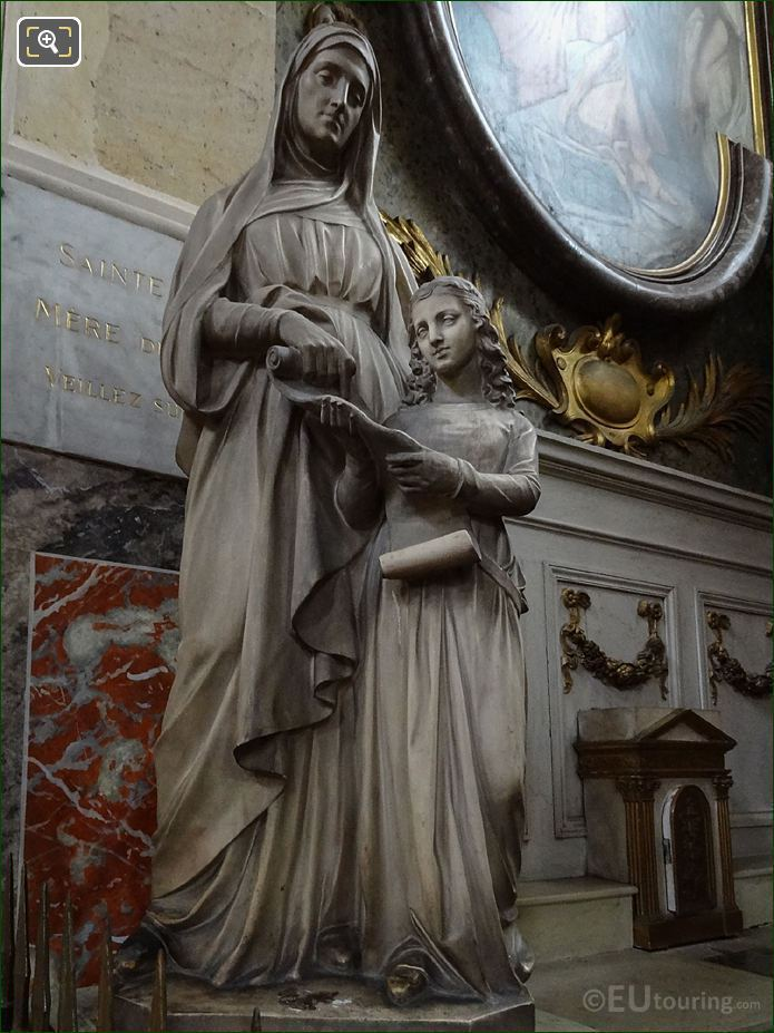Sainte Anne Statue In Eglise Saint-Roch